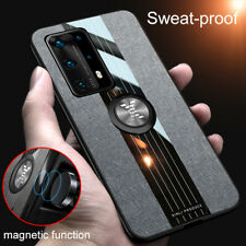 For Huawei P40 Pro P30 Lite P20 Armor Case Cloth Finger Ring Stand Magnet Cover