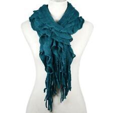 Knit Fringe Winter Scarf