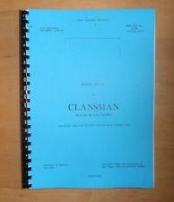 Clansman Radio. Reference handbook. Army radio.
