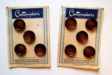 """VINTAGE BUTTONS ON CARD 9 COPPER ROUND  7/8"""" SIZE by COSTUMAKERS"""
