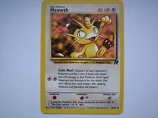 Pokemon card TEAM ROCKET Common MEOWTH (62/82) Mint / Near mint