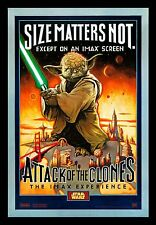 Attack Of The Clones IMAX Star Wars Yoda Movie Poster Double 2 Sided Rolled NEW!