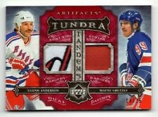 2006-07 ARTIFACTS TUNDRA TANDEMS DUAL PATCHES G.ANDERSON/ W.GRETZKY 14/25