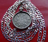"1928-1936 (random) ENGLISH SILVER SIXPENCE 30""- 76cm .925  STERLING SILVER CHAIN"