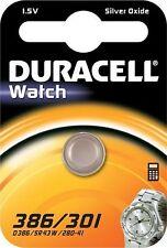 1 x DURACELL 386 301 SR43 V386 D386 SR43W 280-41 1.5v SILVER OXIDE WATCH BATTERY