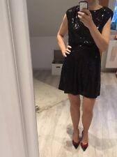 4da6233741185 Justfab Kleid Cocktail Kleid S/M Schwarz Mit Pailletten Festlich Silvester  Kurz