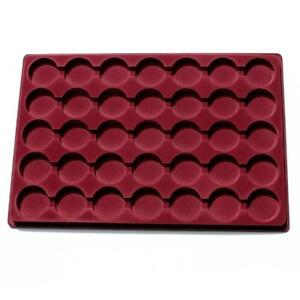 Coin Tray for PO35 Coins in Capsules with Transparent Cover Space 37mm