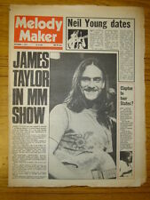 MELODY MAKER 1973 SEP 1 JAMES TAYLOR NEIL YOUNG CLAPTON