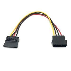 "6 inch 6"" 4 Pin IDE Molex to Serial ATA SATA Hard Drive DC Power Supply Cable"