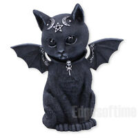 MALPUSS WINGED OCCULT CAT FIGURINE ORNAMENT WITCH MAGIC SPELL PAGAN GOTHIC 11CM