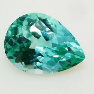 Natural Loose Gemstone 7.85 Carat Pear Cut Teal Sapphire