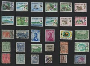 H 212 Dominica / A Small Collection Early & Modern Umm Lhm & Used