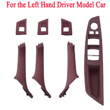 7pcs/set Door Handle Window Lift Switch Button Frame Panel Kit For BMW F10/ F18
