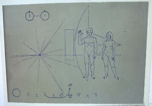 PIONEER 10 and 11 / Orig 4x5 NASA Issued Transparency - Plaque on Spacecraft