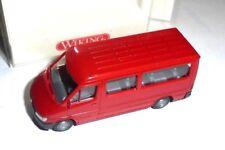 van 1/87 WIKING 281 01 MERCEDES BENZ SPRINTER BUS 1995 RED NEW BOX