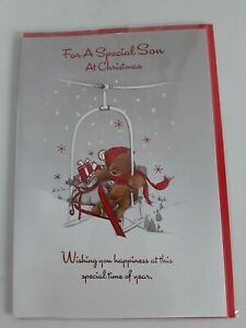 For A Special Son At Christmas. Wrapped Christmas Card