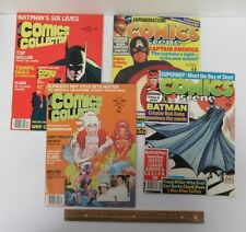 Lot (4) Vintage [1985-1990] COMICS SCENE & COMICS COLLECTOR Magazines yz3375