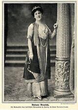 Diplomaten * Madame Wesnitsch in serbischer Nationaltracht *  Bilddokument 1911