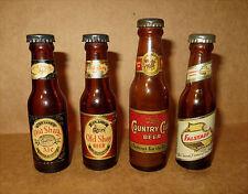Vintage LOT Old Shay Country Club Falstaff Mini Beer Bottle salt pepper shakers