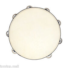 "10"" Musical Tambourine Tamborine Drum jingles Percussion Instrument Party 7MH3"
