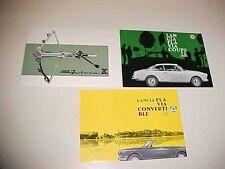 Lancia Luigi Chinetti Dealer Sales Brochures THREE OEM