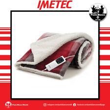 IMETEC Plaid elettrico riscaldabile Adapto Velvet Tartan