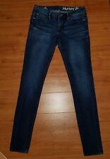HURLEY 90° LEGGING skinny stretch denim jeans zippered leg  Size 5 EUC