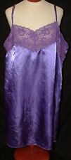 "Amoureuse Purple Polyester Lace Night Gown Spaghetti String Sz 1XL  42"" L X 27""B"