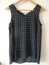 Target Black & White Sleeveless Blouse/Tank Top Size 8 NWOT