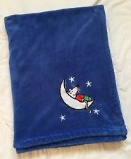 """Maisy Blue Blanket Mouse Star Moon Baby 28"""" 38"""" Lovey Sleeping Lucy Collins"""