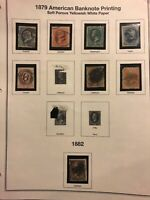 US #182-186 188-189 205 soft paper 8 diff used stamps 1879 H cv $146.50