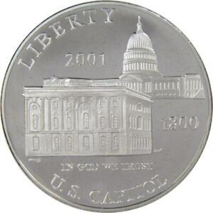 U.S. Capitol Visitor Center Commemorative 2001 P 90% Silver Dollar Proof $1 Coin
