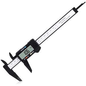 Digital Caliper Measuring Tool Large LCD Screen 0-6Inch/150mm Carbon Fiber Gauge