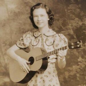 Ruth Virginia Female Vtg Country Western Music RPPC 1930s Real Photo Postcard G4