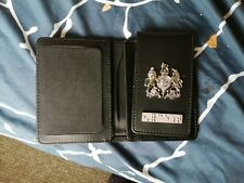 More details for genuine leather metropolitan police warrant card id holder bi fold met co19 tsg