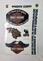 HARLEY DAVIDSON LOT OF vintage WINDOW CLINGS DECALS