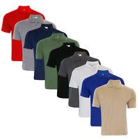 Mens Plain PK Poly Cotton Pique Polo Collar Casual Top T-shirt