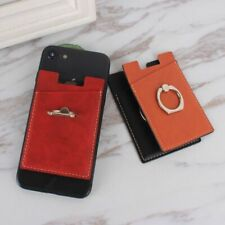 Card Leather Phone Holder Cell Pocket Stick Iphone 7 8 Car Ring Universal Metal