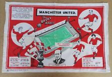 "MANCHESTER UNITED  BEAUTIFUL BUSBY BABES TEA TOWEL 28"" x 19"" MADE IN 1966 MUFC"