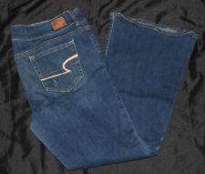 American Eagle Artist stretch jeans 14 short Juniors AE crop bootcut distressed
