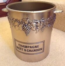 VINTAGE MOET & CHANDON CHAMPAGNE BUCKET ICE ACRYLIC COOLER WINE BAR GRAPES VINES