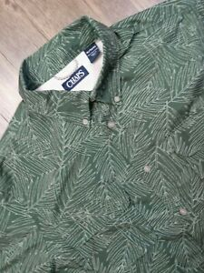 Ralph Lauren Chaps Button Up Shirt Adult Extra Large Green Casual Camp Mens