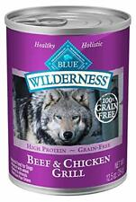 Adult Wet Dog Food High Protein Grain Free Trout & Chicken Grill 12.5 Oz 12 Cans