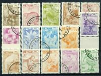 Vietnam 1984 Mi. 1529-1543 Usato 100% animali e piante Flora