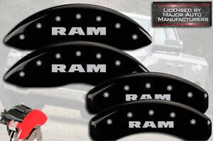"2019-2021 ""Ram"" 1500 Front + Rear Black MGP Brake Disc Caliper Covers Alternate"