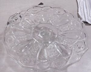 "Vintage Antique  L.G. Wright Glass Quintec Pedestal Cake Stand 11 3/4"""