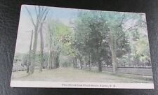 Old Postcard<EXETER, NEW HAMPSHIRE>{VIEW OF PINE STREET---1920}