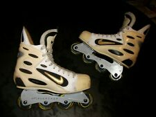 Nike Zoom Air Inline Roller Hockey Skates,White Edition Size 11.5 Nice Shape WoW