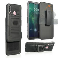 For Samsung Galaxy A20S Holster Belt Clip Case Hybrid Defender Armor Phone Cover