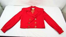 St. John Collection 6 Marie Gray Jacket Blazer Red Gold Embroidered Small Womens